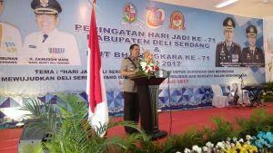 Syukuran HUT Bhayangkara dan HUT Kabupaten Deli Serdang Dilakukan Bersama