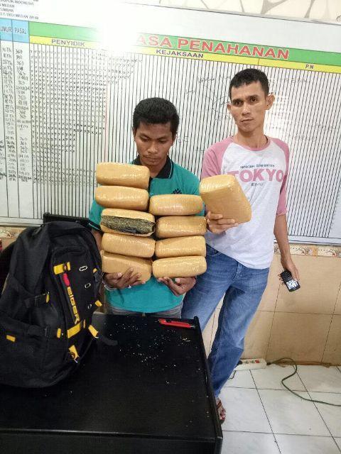 Ditangkap di Amplas, Ganja 10 Kg Asal Aceh Gagal Beredar di Rantau Parapat