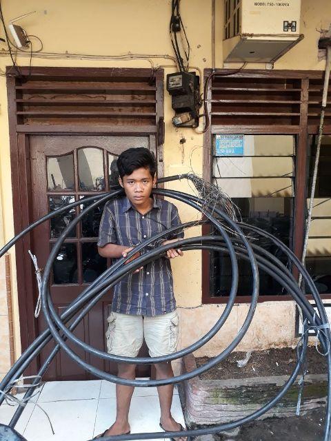 Pencuri Kabel PT Telkom di Amplas Berhasil Diringkus Tim Pegasus Polsek Patumbak