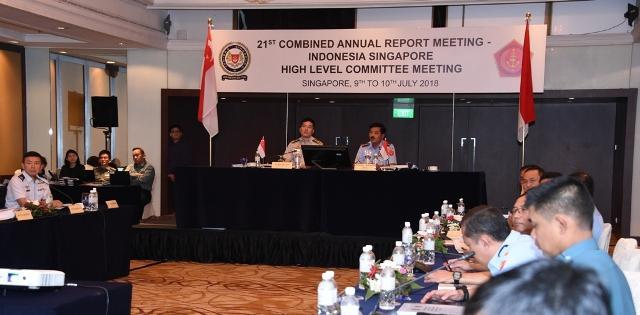 Panglima TNI dan Pangab Singapura Pimpin Sidang CARM Indosin HLC ke-21