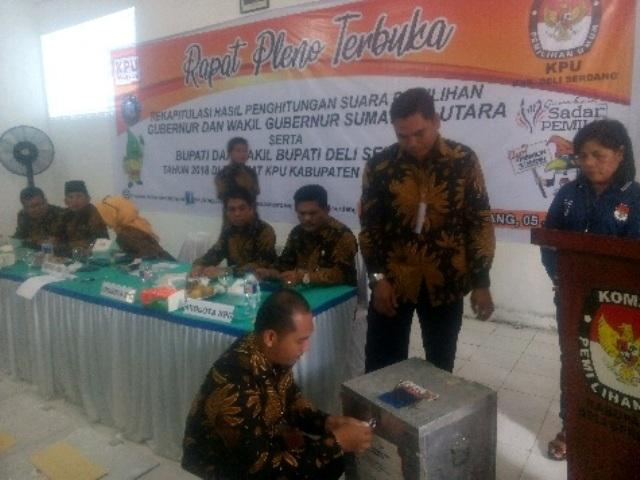 KPU Deli Serdang Laksanakan Pleno Hasil Pilkada Serentak