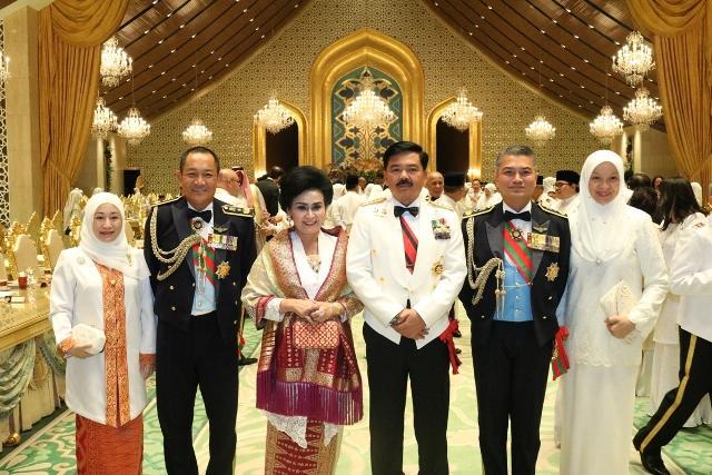 Panglima TNI Hadiri Jamuan Makan Malam di Istana Bandar Sri Begawan