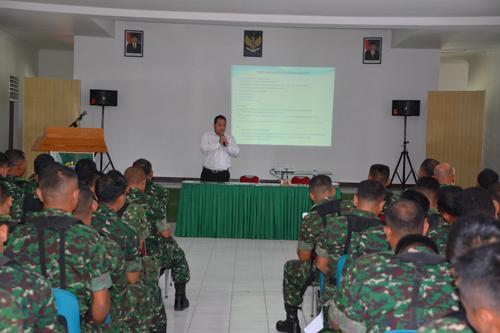 Personel Korem Terima Sosialisasi KPR BP TWP AD dari PT Mohadi