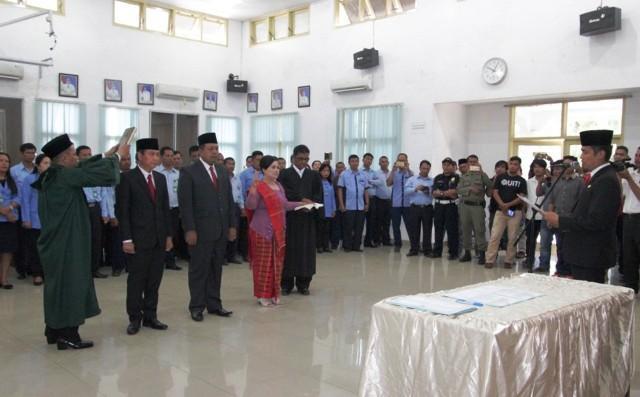 Walikota Pematangsiantar Lantik Jajaran Direksi PDAM Tirtauli