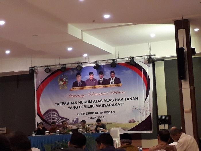 DPRD Medan Gelar Seminar Tentang Hukum Alas Hak Tanah
