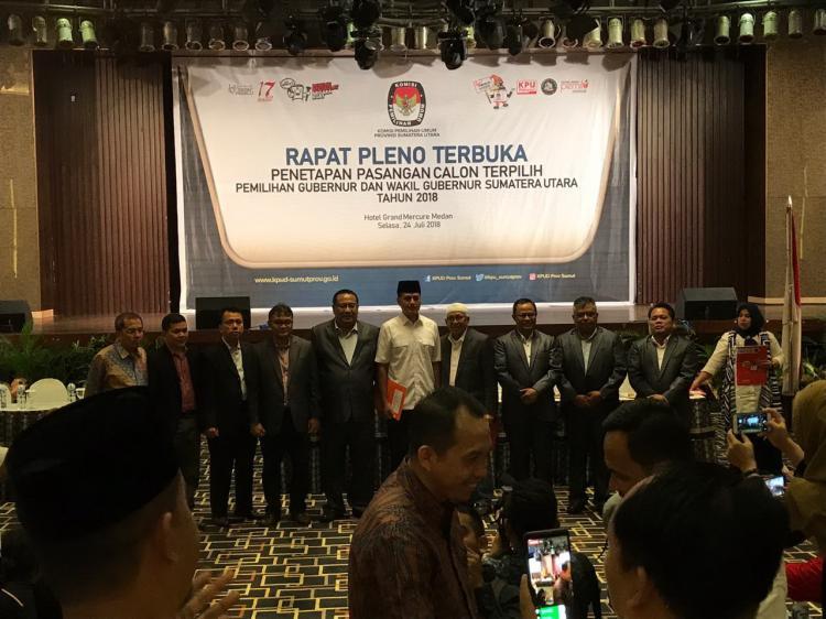 KPU Sumut Tetapkan Edy-Ijeck Gubernur dan Wakil Gubernur Terpilih