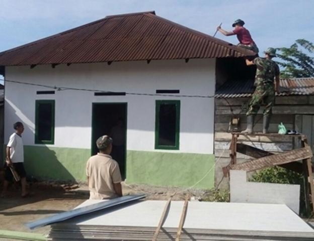 Proyek Renovasi RTLH Kodim 0207/Simalungun dan Siantar Barat Hampir Selesai