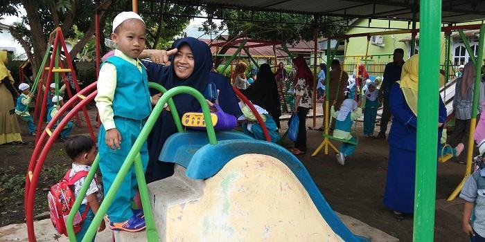 Hari Pertama Sekolah, YPI Al-Ikhlas Labuhanbatu Terima Ratusan Santri Baru