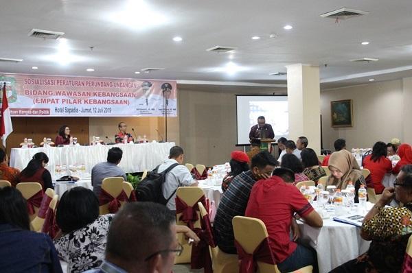 Pemko Pematangsiantar Gelar Sosialisasi Peraturan Perundang-undangan Bidang Wawasan Kebangsaan
