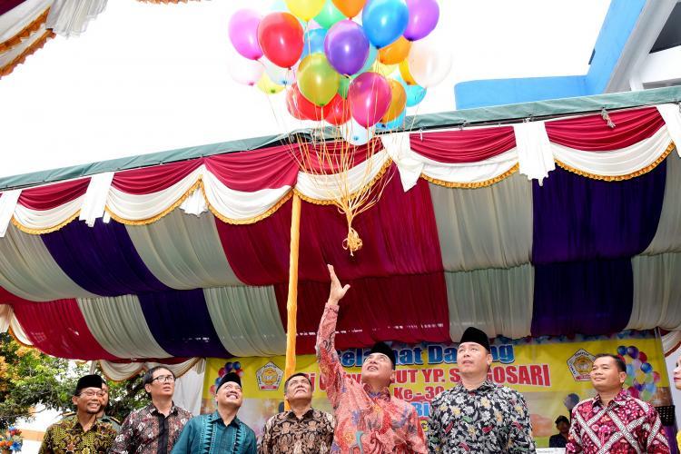 HUT YP Singosari Delitua, Gubernur Harapkan Lahir Generasi Hebat