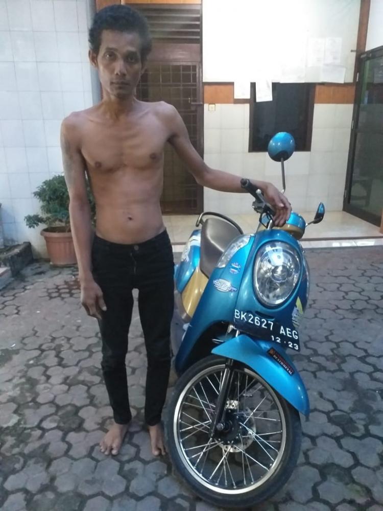 Maling Sepeda Motor Berhasil Dibekuk Polisi