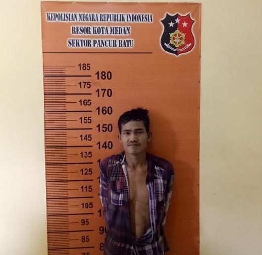 Polsek Pancurbatu Amankan Reza, Pria Yang Kerap Merampok di Tanjung Anom