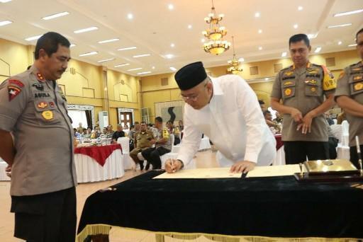 Pemko Medan dan Poldasu Jalin Kesepakatan Bantuan Pengamanan Pelaksanaan Program Prioritas Pembangunan