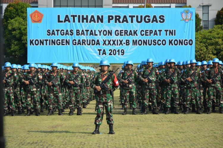 Komandan PMPP TNI Buka Latihan Pra Tugas Satgas TNI Konga MONUSCO