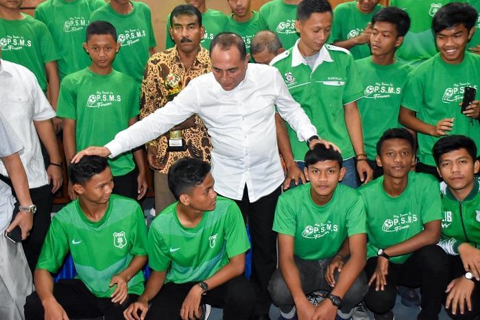 Silaturahmi Pengurus dan Suporter PSMS Medan, Gubsu Targetkan Tahun 2023 Sumut Miliki Stadion Internasional