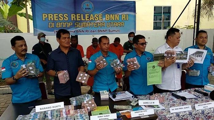 Kasus Pencucian Uang Senilai 2,5 M dari Penjualan Narkotika Diungkap BNN RI