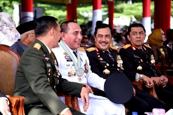 Gubernur Sumut, Pangdam, Kapolda dan Kajati Sumut Kompak di HUT Bhayangkara