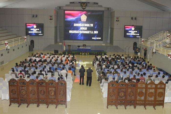 TNI Gelar Komsos dengan Organisasi Masyarakat di Koarmada I