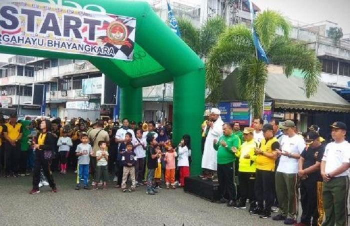 HUT Bhayangkara ke-73, TNI-Polri Padangsidimpuan Gelar Olahraga Bersama dan Berbagi DoorPrize