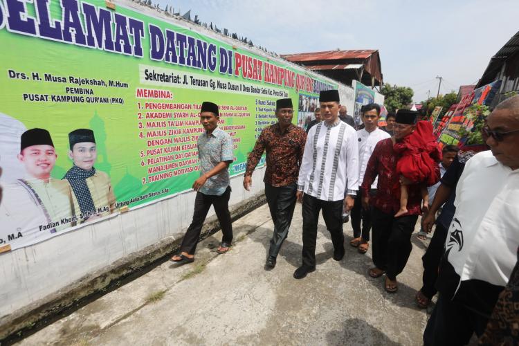 Kunjungi Pusat Kampung Qurani, Wakil Gubernur: Perkuat Iman Bentengi Anak dari Narkoba