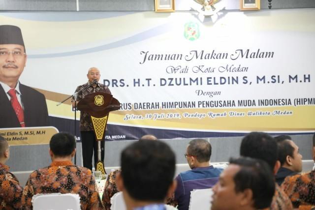 Walikota Medan Gelar Jamuan Makan Malam Peserta Rakerda HIPMI Sumut
