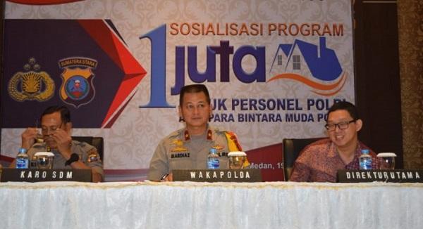 Wakapolda Sumut Sosialisasi Program Perumahan Bersubsidi Untuk Personil Polri & PNS Polda Sumut