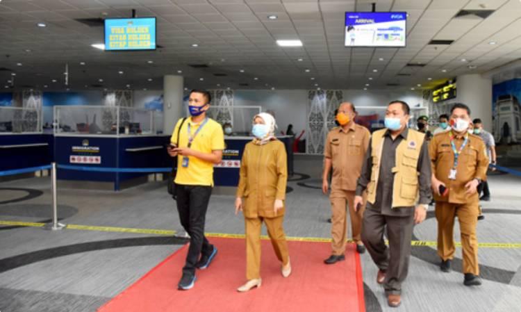 Sekdaprov Sumut Sabrina Tinjau dan Evaluasi Kesiapan Bandara Kualanamu Jelang New Normal