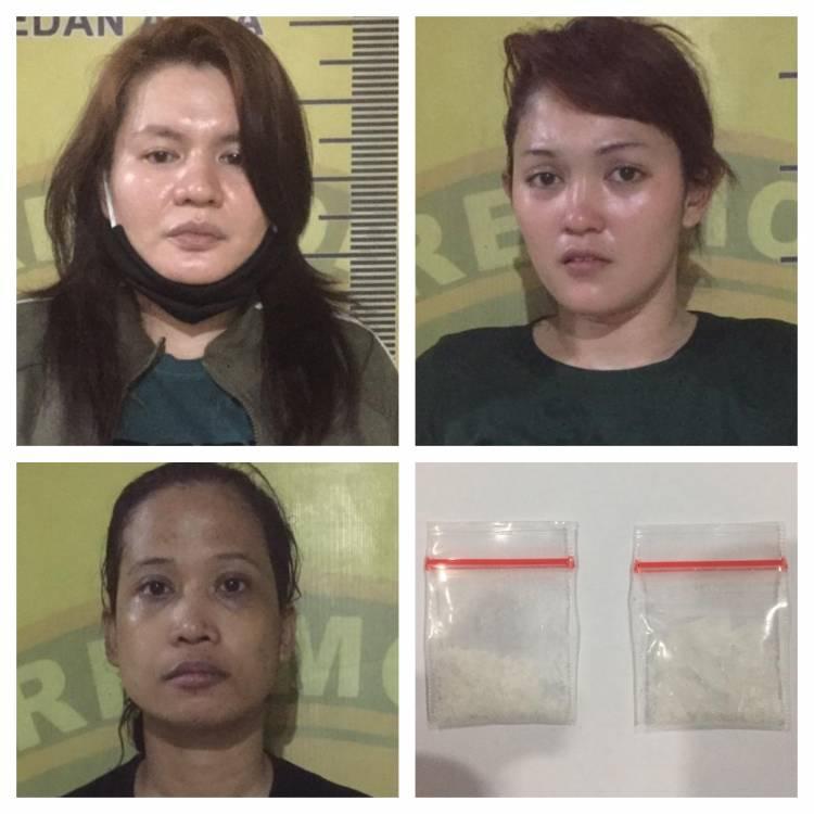 Lusi, Reni, Rika, Tiga Wanita Pengedar Sabu Digrebek Polisi di Rumah Sewa Jalan Denai