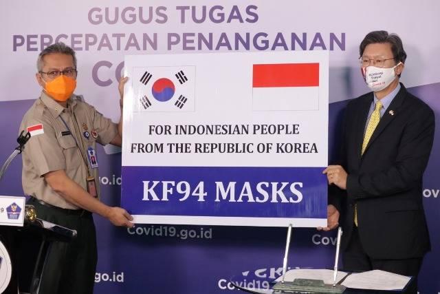 Gugus Tugas Nasional Kembali Terima Donasi 500 Ribu Masker Medis dari Pemerintah Korea Selatan