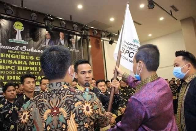 Pengurus Dilantik, Walikota Berharap BPC HIPMI Bisa Dongkrak Ekonomi di Tanjungbalai
