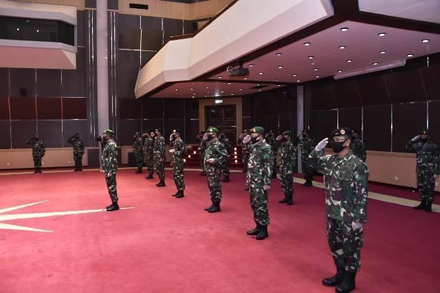 Panglima TNI Terima Laporan Korps Kenaikan Pangkat 22 Perwira Tinggi
