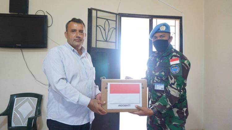 Bentuk Perhatian Masyarakat Binaan, Prajurit TNI di Lebanon Kembali Donasikan Obat-Obatan dan APD