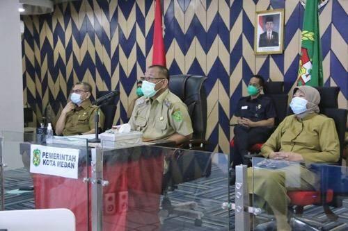 Rakor TPID se-Sumatera Utara, Plt Wali Kota Medan Hadiri via Vidcon