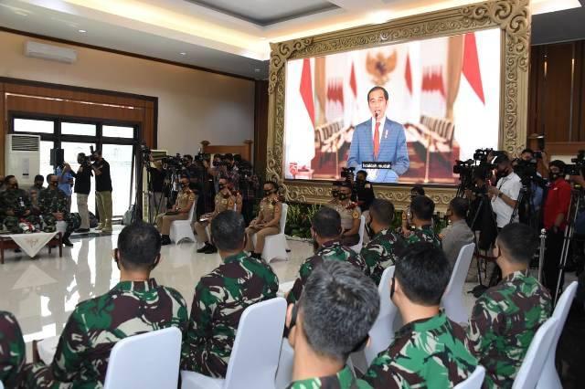 Presiden RI Buka Pelantikan Capaja TNI-Polri Tahun 2020