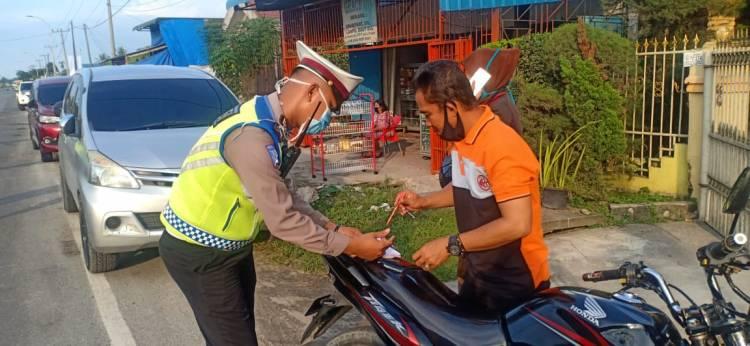 Ops Patuh Toba, Polresta Deli Serdang Berikan 290 Teguran dan 49 Tilang