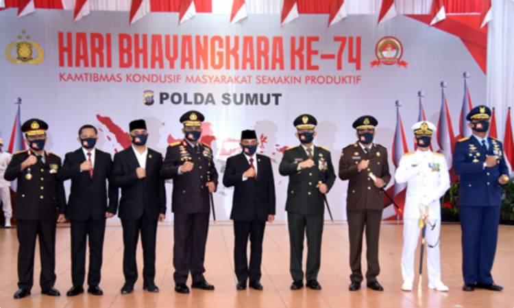 HUT Bhayangkara ke-74, Gubernur Edy Rahmayadi Harapkan Polda Sumut Makin Profesional