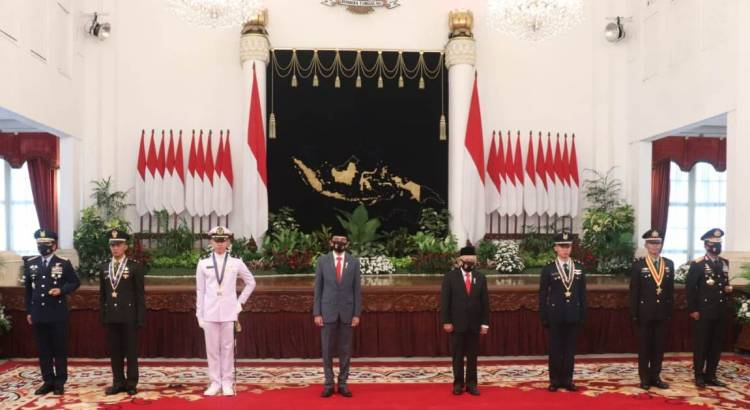 Presiden RI Lantik 750 Perwira TNI-Polri, 4 Peraih Adhi Makayasa Hadir di Istana Negara