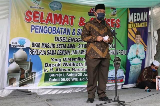 Pemko Medan Buka Baksos BKM Setia Amal, Gelar Pengobatan dan Sunatan Gratis