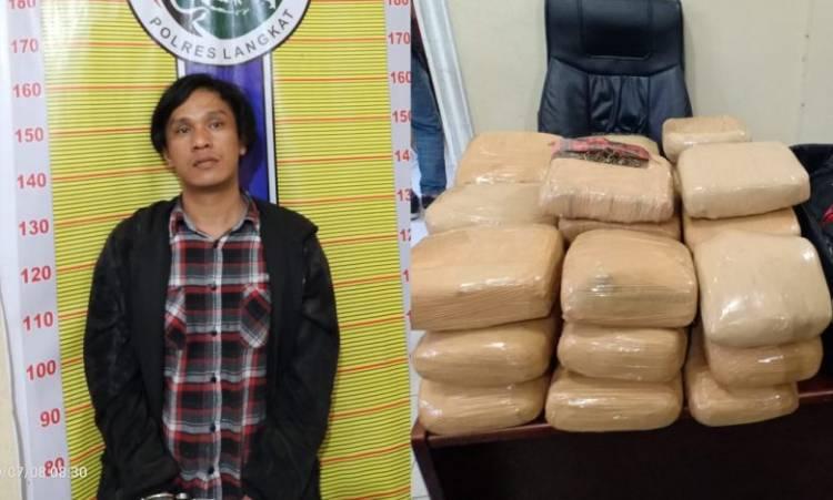 Polres Langkat Tangkap Warga Bandung Bawa 30 Bal Ganja dari Aceh