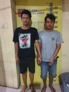 Dua Orang Pelaku Bongkar Rumah Ditangkap Petugas Polsek Medan Area
