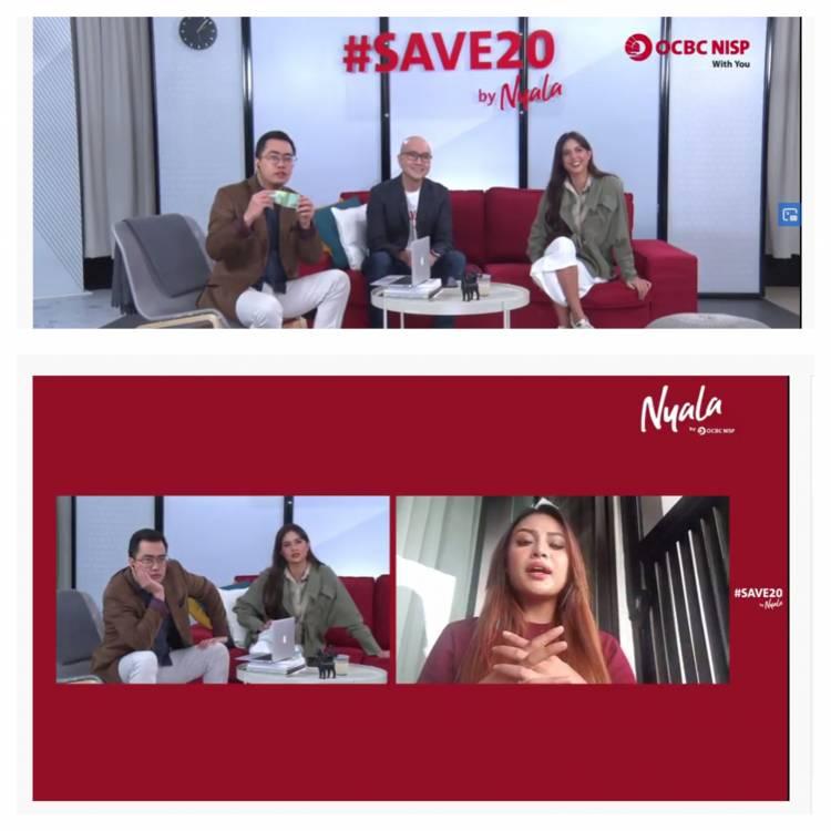 #SAVE20 by Nyala, Aurelie Hermansyah Ajak Anak Muda Nabung 20Ribu di Bank OCBC NISP
