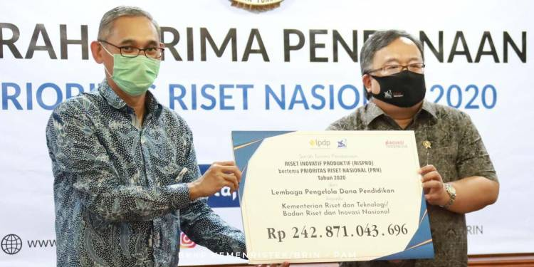 Prioritas Riset Nasional Kemenristek/BRIN dan LPDP Kucurkan Dana Rp 242 Miliar