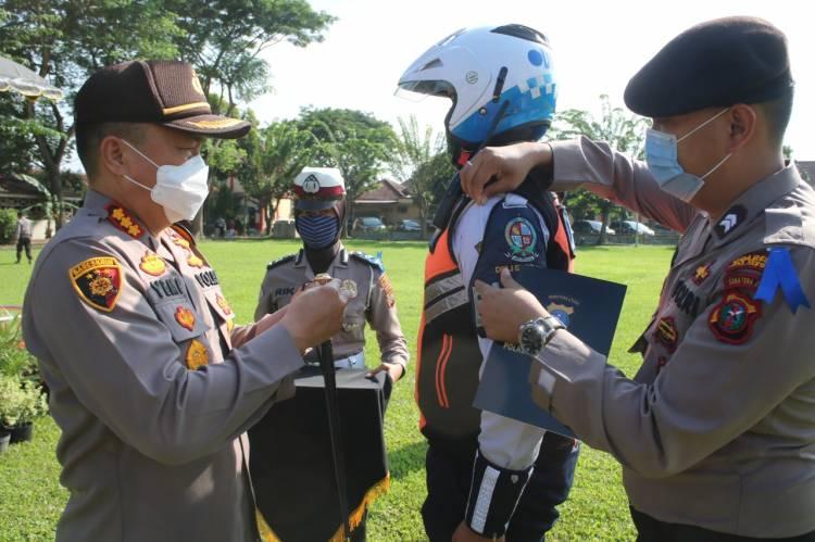 Apel Pasukan Ops Patuh Toba 2020 Digelar di Wilkum Polresta Deli Serdang