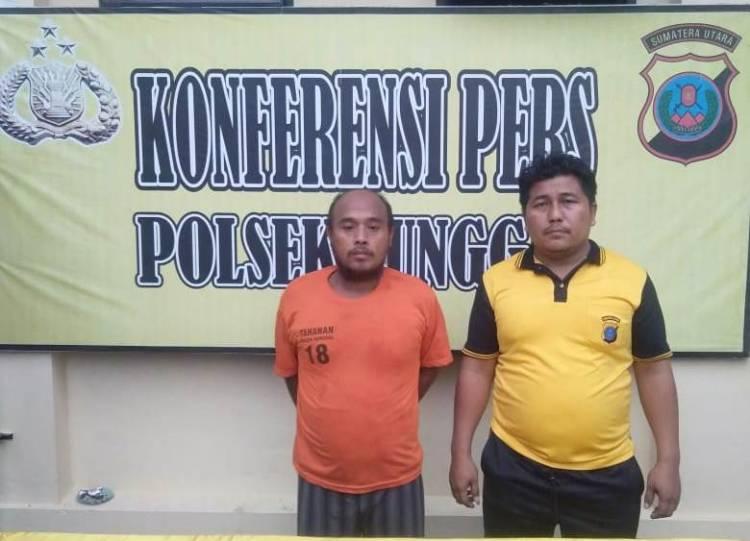 Polsek Sunggal Ringkus Pengedar Sabu di Jalan Binjai Km 19