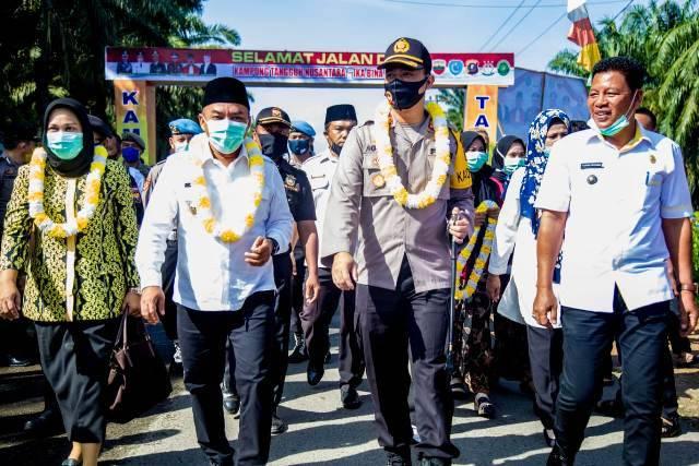 Bupati Labuhanbatu Hadiri Launching Kampung Tangguh Bumi Nusantara Ikabina En Pabolo