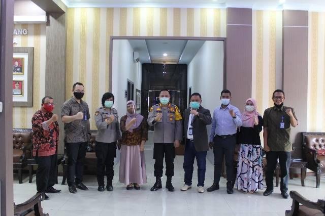 Kapolresta Deli Serdang Terima Kunjungan Promosi Fakultas Hukum UMA