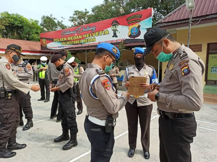 Unit Provost Polsek Medan Helvetia Gelar Operasi Gaktibplin