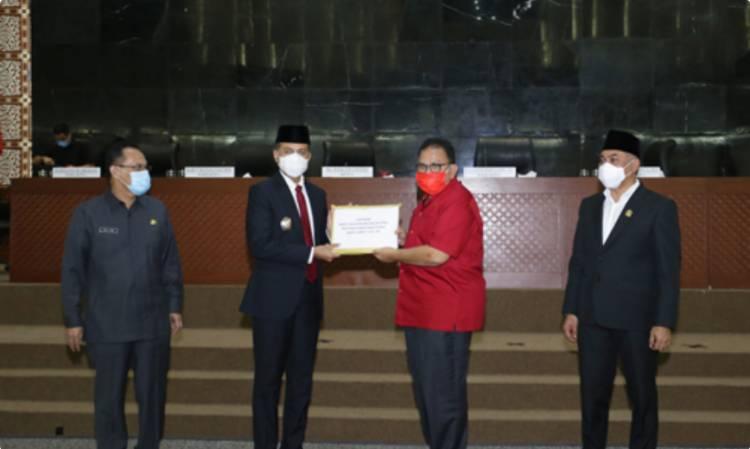 Hadiri Rapat Paripurna DPRD Sumut, Wagub Optimis Pembangunan Sumut akan Lebih Baik ke Depan