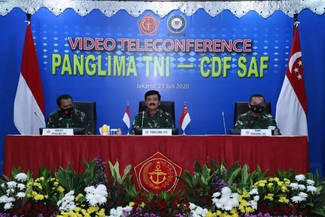 Panglima TNI dan Pangab Singapura Bahas Latihan dan Kerjasama Militer