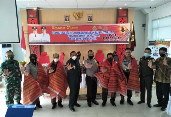 Canangkan Samosir Jadi Kabupaten Bebas Pungli, UPP Saber Pungli Provsi Lakukan Monitoring di Samosir
